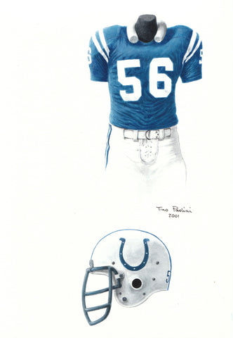 Indianapolis Colts 1975 - Heritage Sports Art - original watercolor artwork - 1