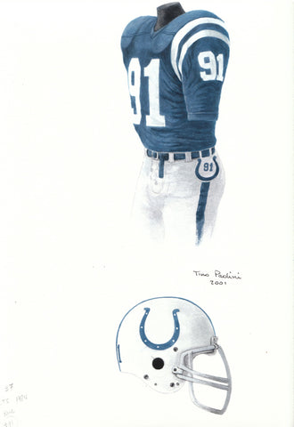Indianapolis Colts 1984 - Heritage Sports Art - original watercolor artwork - 1