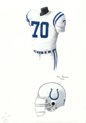 Indianapolis Colts 1988 - Heritage Sports Art - original watercolor artwork - 1