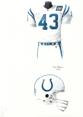 Indianapolis Colts 1993 - Heritage Sports Art - original watercolor artwork - 1