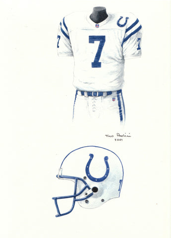 Indianapolis Colts 1997 - Heritage Sports Art - original watercolor artwork - 1