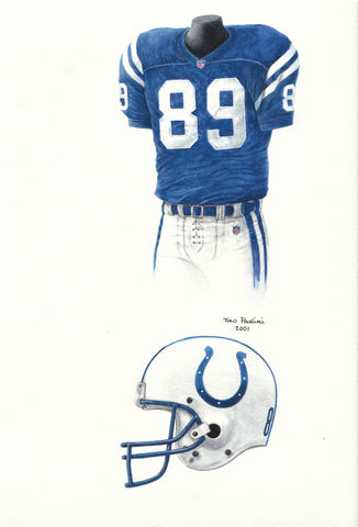 Indianapolis Colts 2001 - Heritage Sports Art - original watercolor artwork - 1
