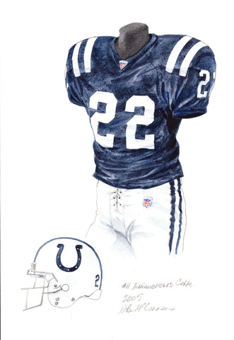Indianapolis Colts 2005 - Heritage Sports Art - original watercolor artwork - 1