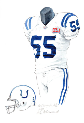 Indianapolis Colts 2006 - Heritage Sports Art - original watercolor artwork - 1