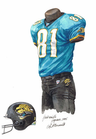Jacksonville Jaguars 2005 - Heritage Sports Art - original watercolor artwork - 1
