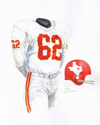 Kansas City Chiefs 1962 - Heritage Sports Art - original watercolor artwork - 1