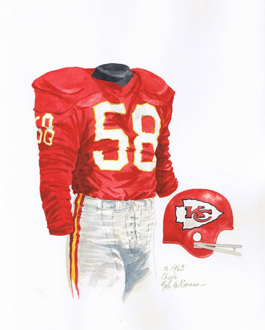 Kansas City Chiefs 1963 - Heritage Sports Art - original watercolor artwork - 1