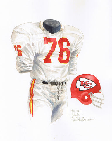 Kansas City Chiefs 1966 - Heritage Sports Art - original watercolor artwork - 1