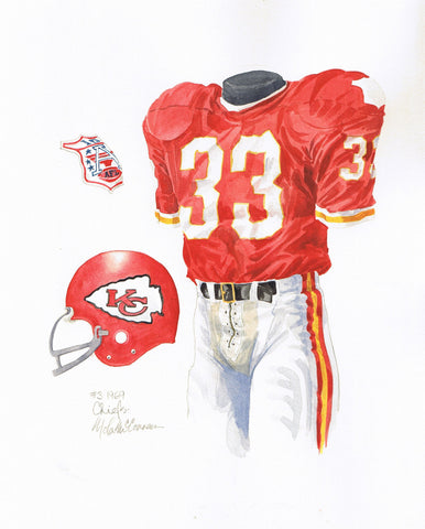 Kansas City Chiefs 1969 - Heritage Sports Art - original watercolor artwork - 1