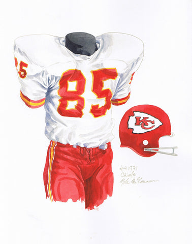 Kansas City Chiefs 1971 - Heritage Sports Art - original watercolor artwork - 1