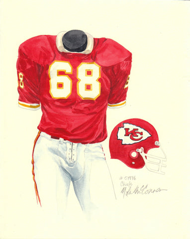 Kansas City Chiefs 1976 - Heritage Sports Art - original watercolor artwork - 1