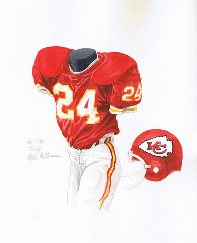 Kansas City Chiefs 1981 - Heritage Sports Art - original watercolor artwork - 1