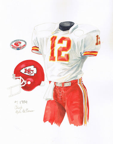 Kansas City Chiefs 1984 - Heritage Sports Art - original watercolor artwork - 1