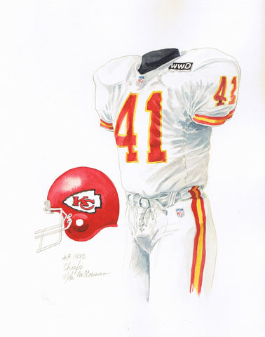 Kansas City Chiefs 1992 - Heritage Sports Art - original watercolor artwork - 1