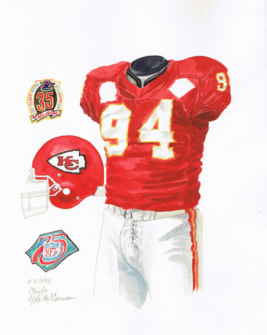 Kansas City Chiefs 1994 - Heritage Sports Art - original watercolor artwork - 1
