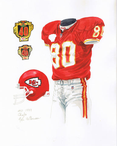 Kansas City Chiefs 1999 - Heritage Sports Art - original watercolor artwork - 1