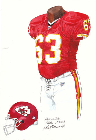 Kansas City Chiefs 2007 - Heritage Sports Art - original watercolor artwork - 1