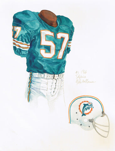 Miami Dolphins 1966 - Heritage Sports Art - original watercolor artwork - 1