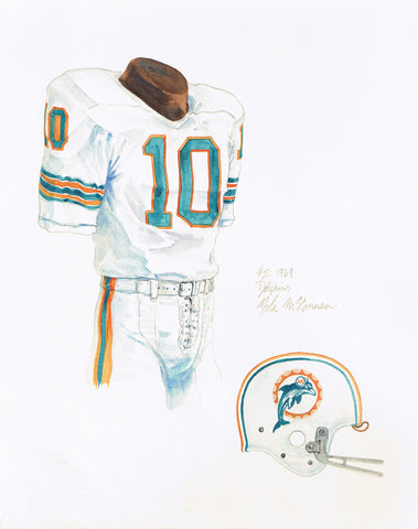 Miami Dolphins 1969 - Heritage Sports Art - original watercolor artwork - 1
