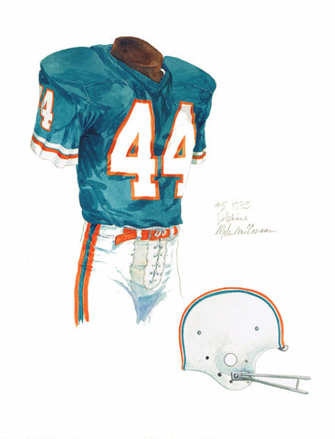 Miami Dolphins 1973 - Heritage Sports Art - original watercolor artwork - 1