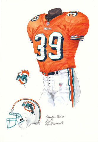 Miami Dolphins 2004 - Heritage Sports Art - original watercolor artwork - 1