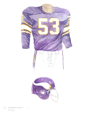Minnesota Vikings 1961 - Heritage Sports Art - original watercolor artwork - 1