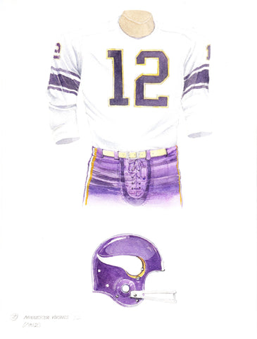 Minnesota Vikings 1962 - Heritage Sports Art - original watercolor artwork - 1
