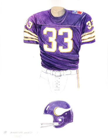 Minnesota Vikings 1969 Purple - Heritage Sports Art - original watercolor artwork - 1