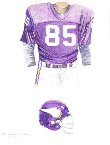 Minnesota Vikings 1973 Purple - Heritage Sports Art - original watercolor artwork - 1