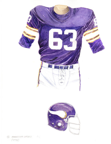 Minnesota Vikings 1974 - Heritage Sports Art - original watercolor artwork - 1