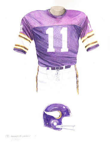 Minnesota Vikings 1976 - Heritage Sports Art - original watercolor artwork - 1