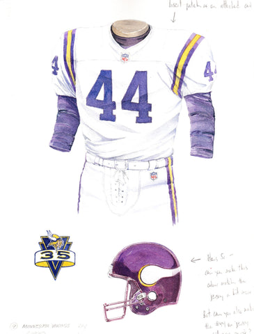 Minnesota Vikings 1995 - Heritage Sports Art - original watercolor artwork - 1