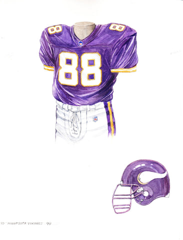 Minnesota Vikings 1998 - Heritage Sports Art - original watercolor artwork - 1