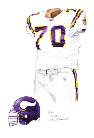 Minnesota Vikings 2004 - Heritage Sports Art - original watercolor artwork - 1
