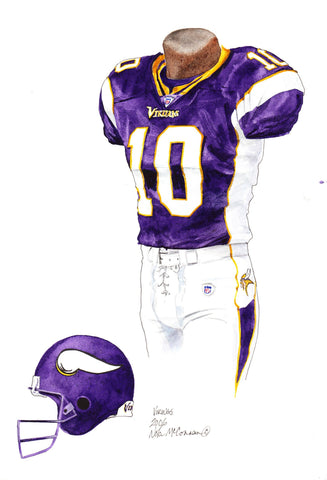 Minnesota Vikings 2006 - Heritage Sports Art - original watercolor artwork - 1