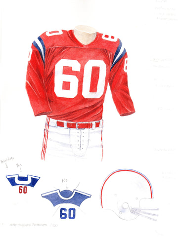 New England Patriots 1960 - Heritage Sports Art - original watercolor artwork - 1