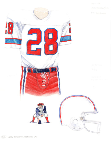 New England Patriots 1978 - Heritage Sports Art - original watercolor artwork - 1