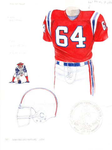 New England Patriots 1984 - Heritage Sports Art - original watercolor artwork - 1