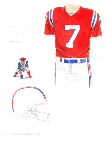 New England Patriots 1985 - Heritage Sports Art - original watercolor artwork - 1