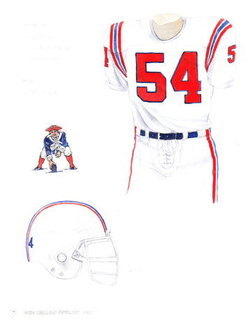 New England Patriots 1988 - Heritage Sports Art - original watercolor artwork - 1