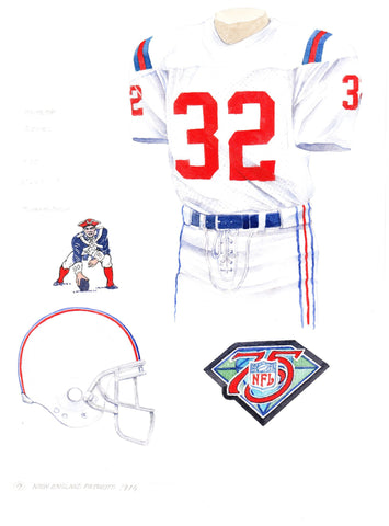 New England Patriots 1994 - Heritage Sports Art - original watercolor artwork - 1