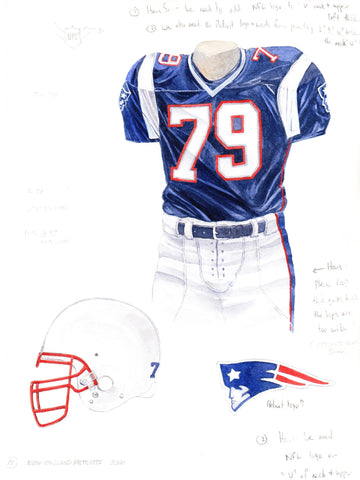 New England Patriots 2001 - Heritage Sports Art - original watercolor artwork - 1