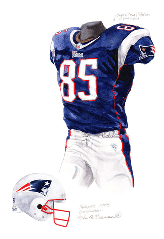 New England Patriots 2003 - Heritage Sports Art - original watercolor artwork - 1
