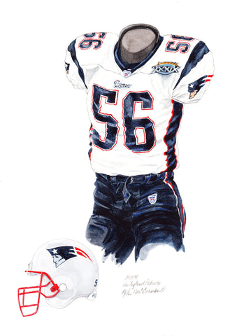 New England Patriots 2004 - Heritage Sports Art - original watercolor artwork - 1