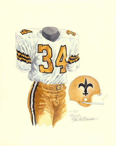 New Orleans Saints 1967 - Heritage Sports Art - original watercolor artwork - 1