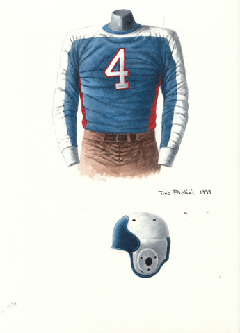 New York Giants 1934 - Heritage Sports Art - original watercolor artwork - 1