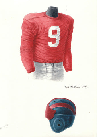 New York Giants 1945 - Heritage Sports Art - original watercolor artwork - 1