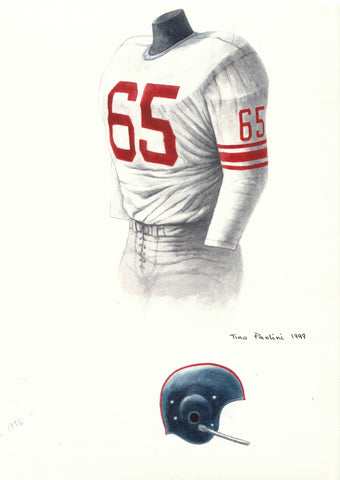 New York Giants 1956 - Heritage Sports Art - original watercolor artwork - 1