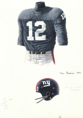 New York Giants 1962 - Heritage Sports Art - original watercolor artwork - 1