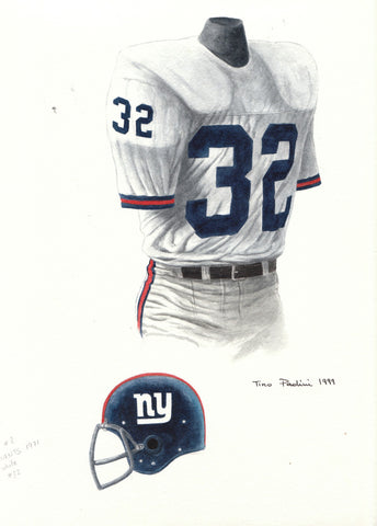 New York Giants 1971 - Heritage Sports Art - original watercolor artwork - 1